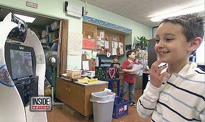 VGo User Devon, age 7, featured on Inside Edition