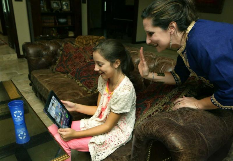 student with chronic illness uses VGo robot